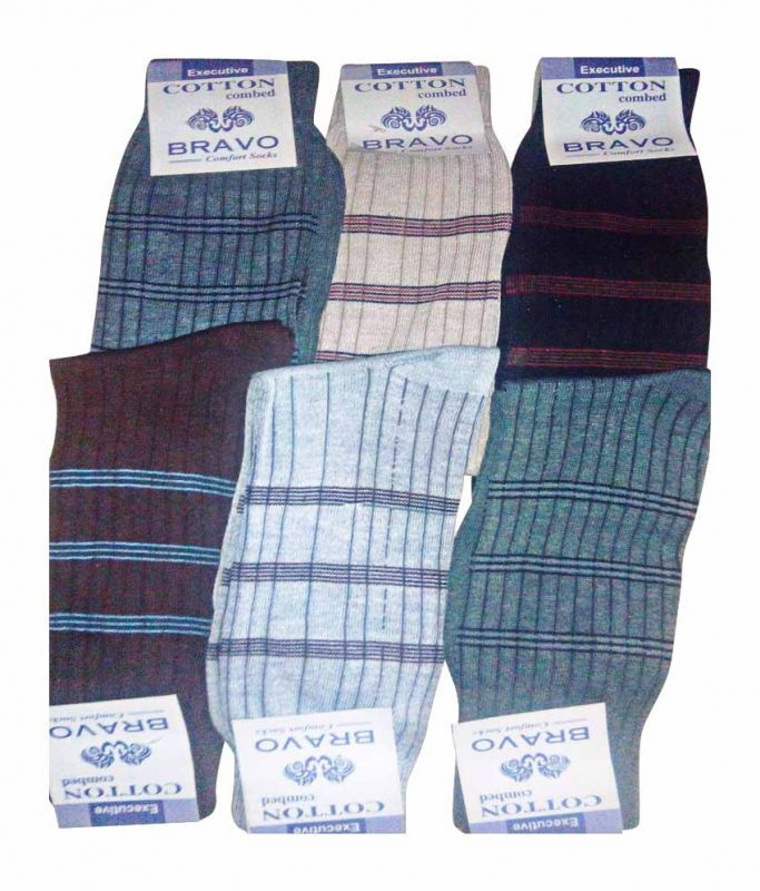 Buy Bravo 12 Pair Men Colors Ribbed Formal Wear Dress Socks online