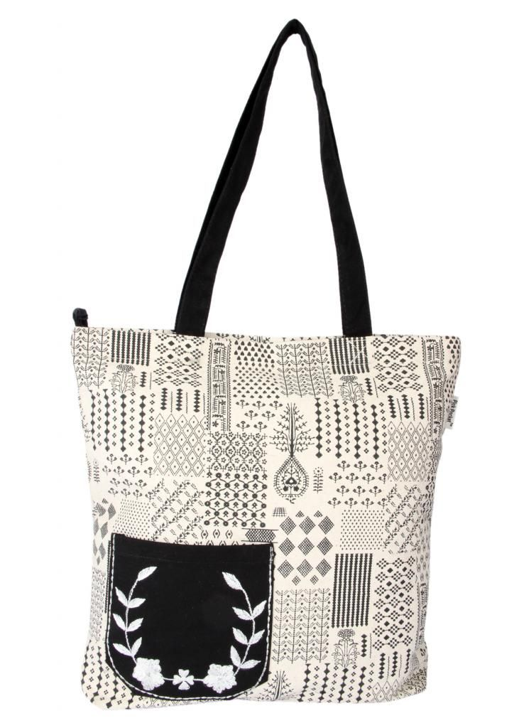 Buy Pick Pocket Canvas Stylish Tote Bags Online | Best Prices in ...