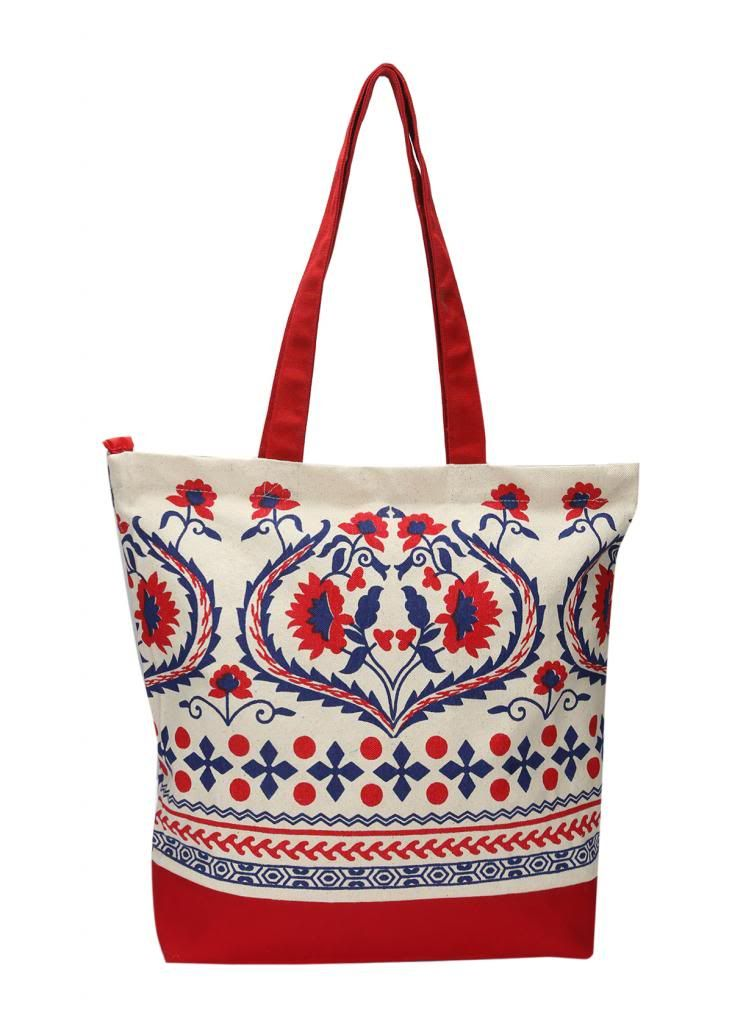 Buy Pick Pocket Red Canvas Tote Bag online