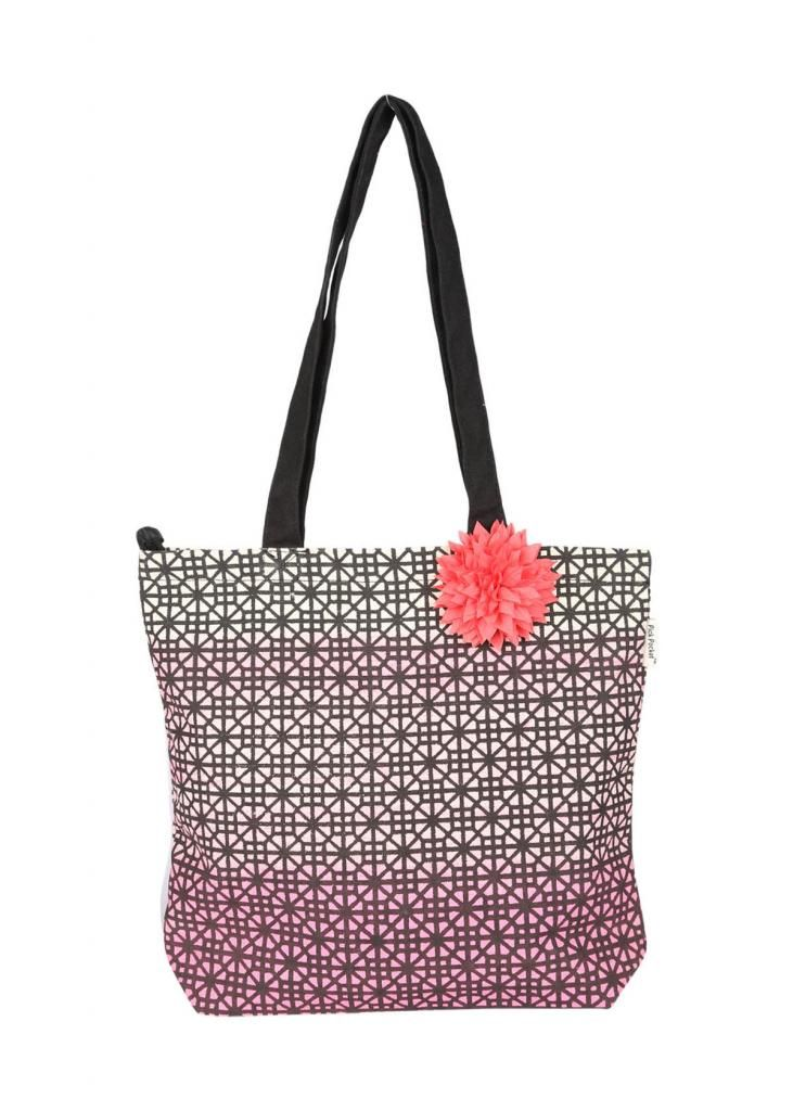 Buy Pick Pocket Canvas Pink Shaded Tote Bag online