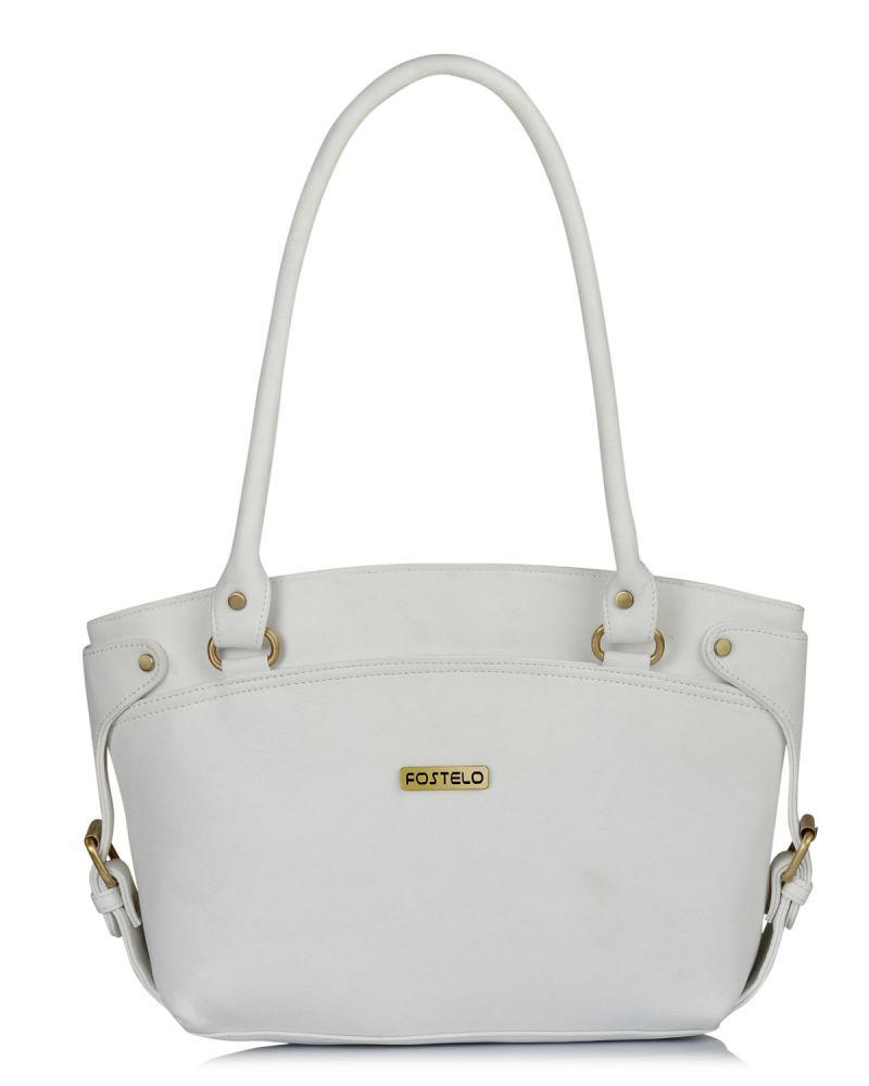 1f8350acc77 Buy Fostelo Women s Princess Diana White Handbag Online