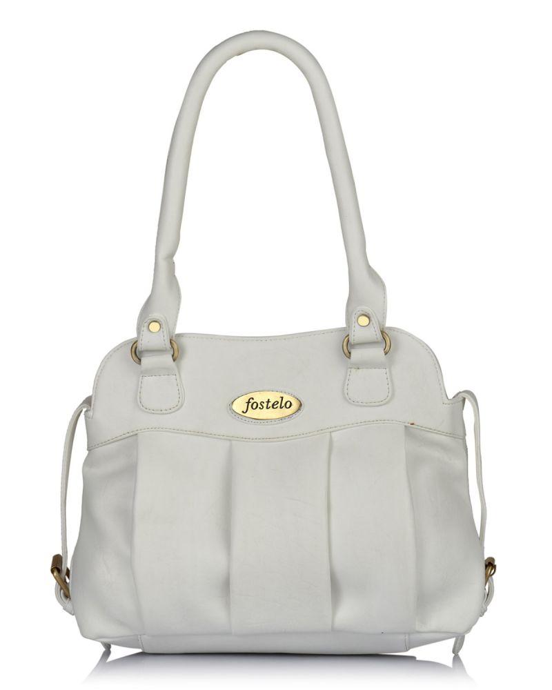 28ecb77e7ec Buy Fostelo Women s Priscila White Handbag Online