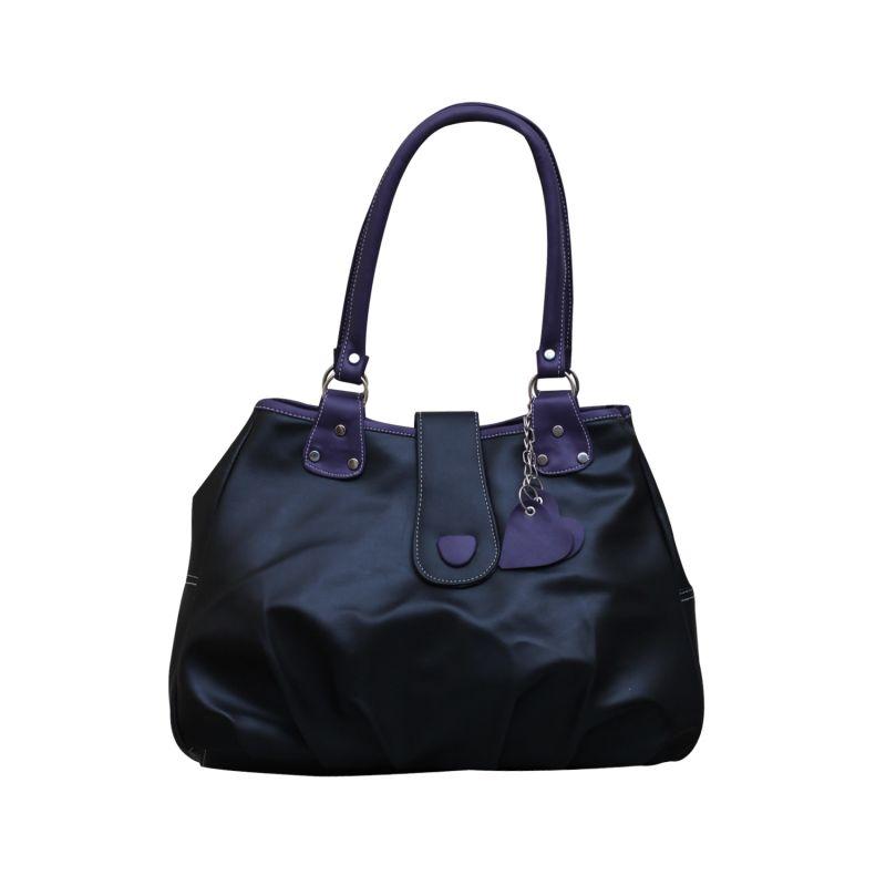 Buy Fostelo Lil Hearts Flap Black Handbag online
