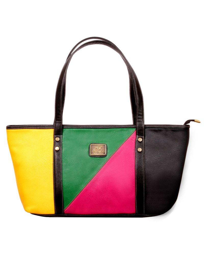 Buy Fostelo Fourtone Multicolor Handbag online