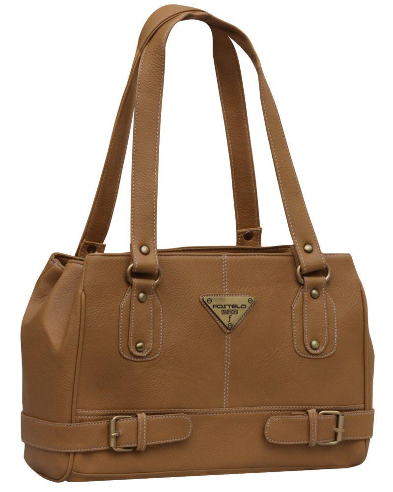 Buy Fostelo Swiss Triangle Beige Handbag online