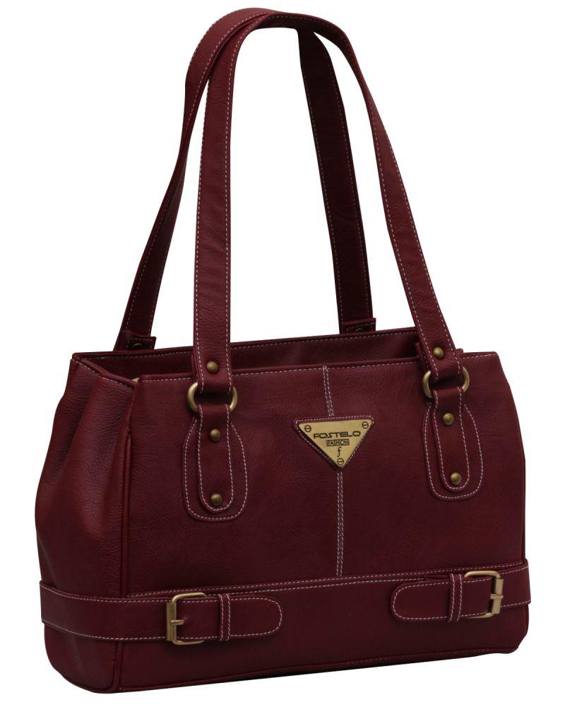Buy Fostelo Swiss Triangle Maroon Handbag online