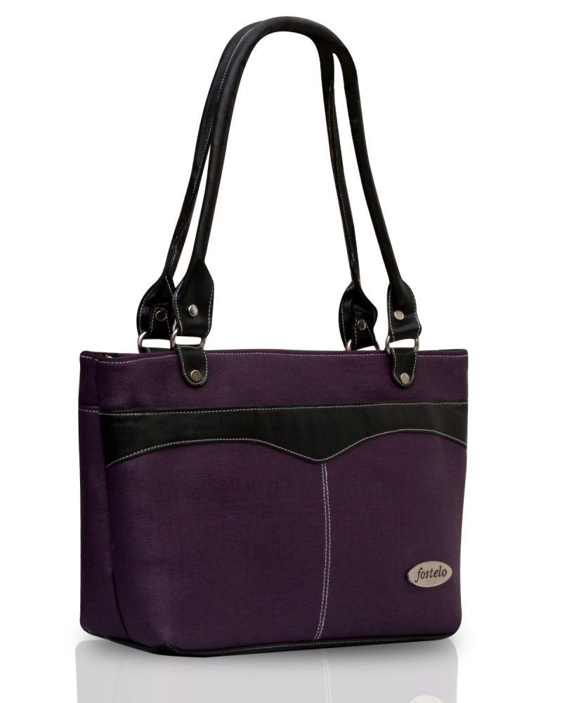 Buy Fostelo Eco Elliot Purple Handbag online