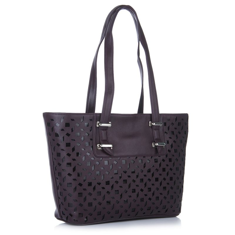 Buy Fostelo Melisa Lasercut Purple Handbag online