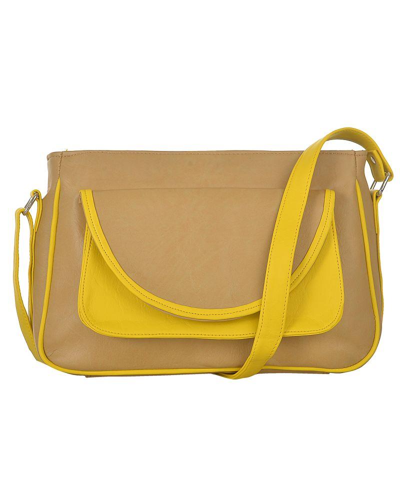 Buy Fostelo Women's Zurich Shoulder Bag Beige (fsb-616) online