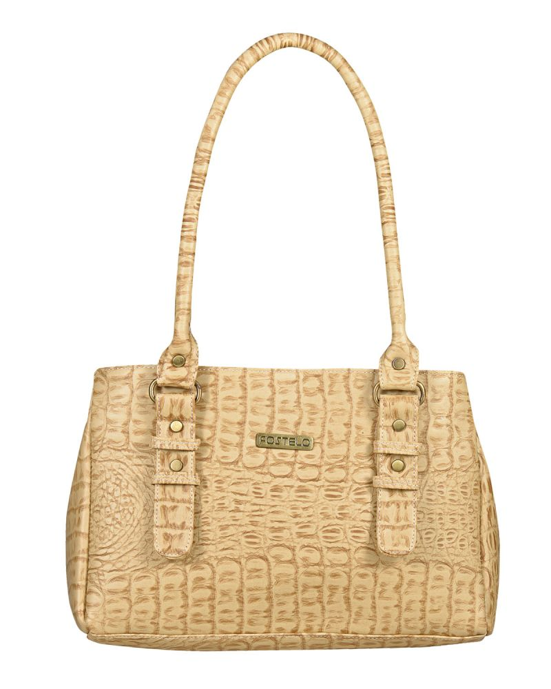 Buy Fostelo Women's West Side Shoulder Bag Beige (fsb-770) online