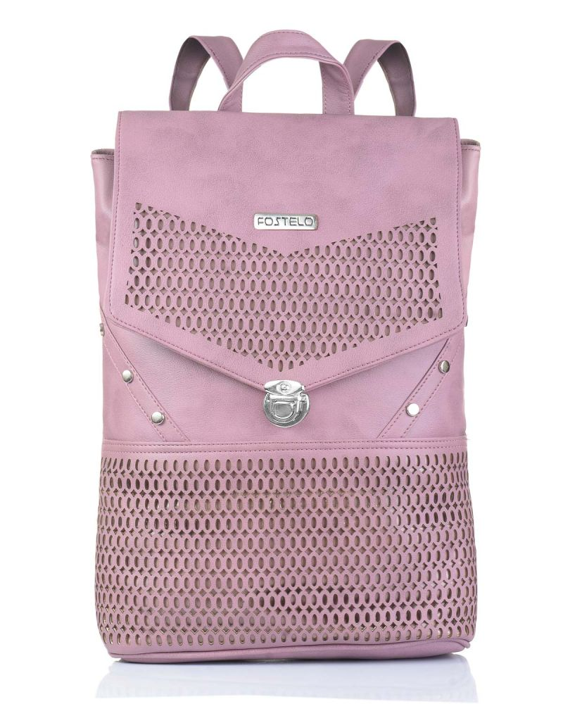 Buy Fostelo Women's Lasercut Grey Backpack (code - Fsb-976) online