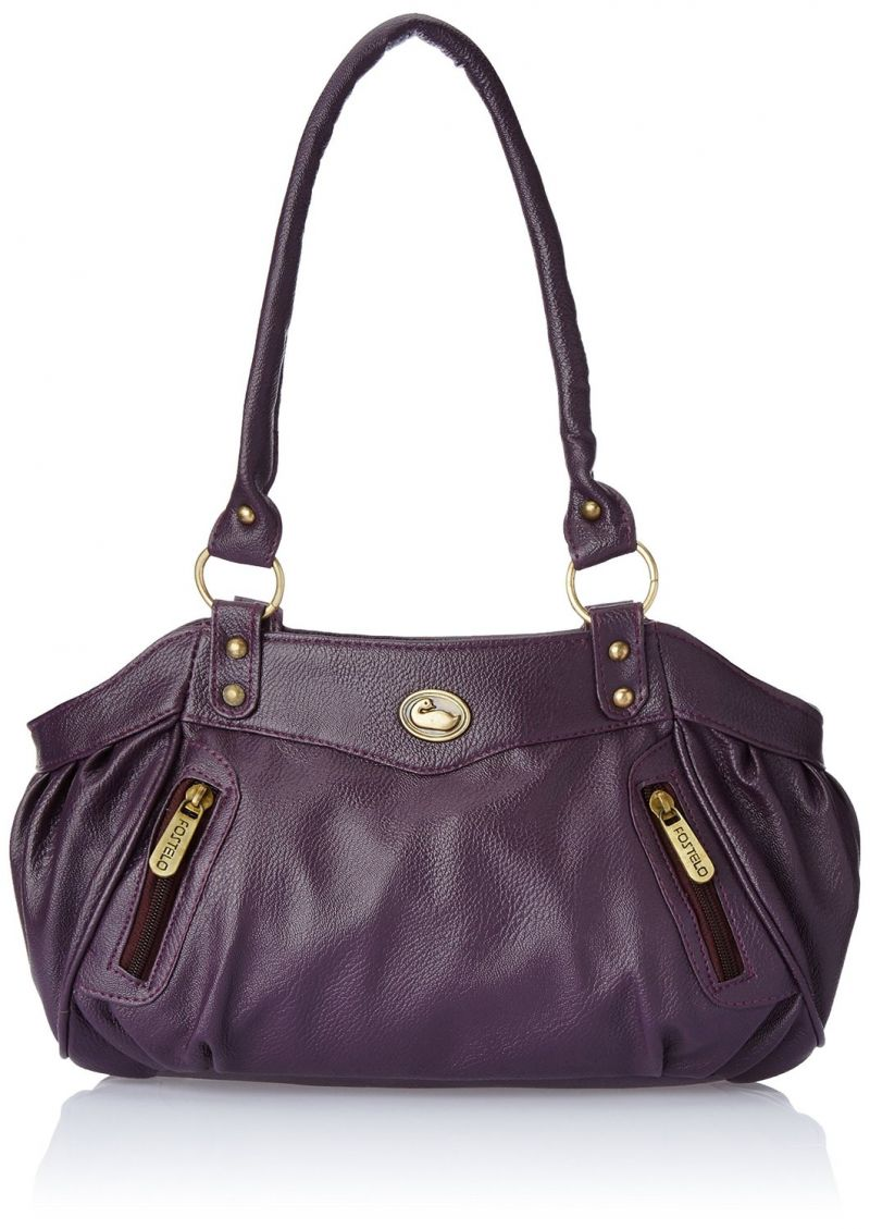 Buy Fostelo Swann Purple Leather Handbag online