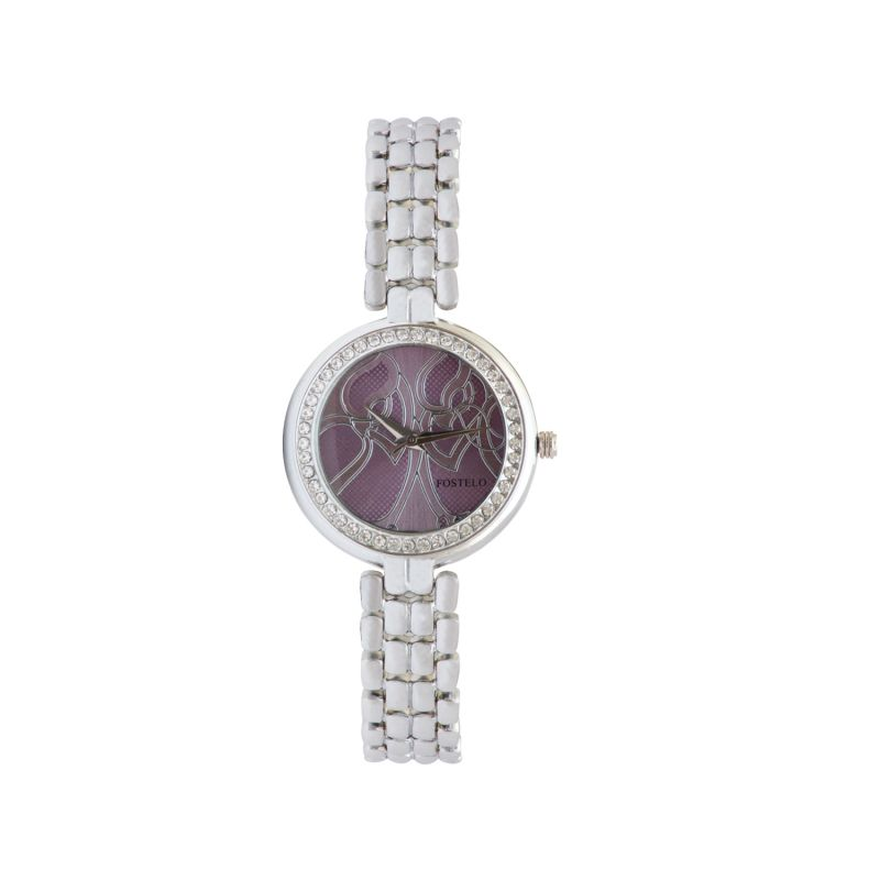 Buy Fostelo Purple Women'S Wrist Watch online