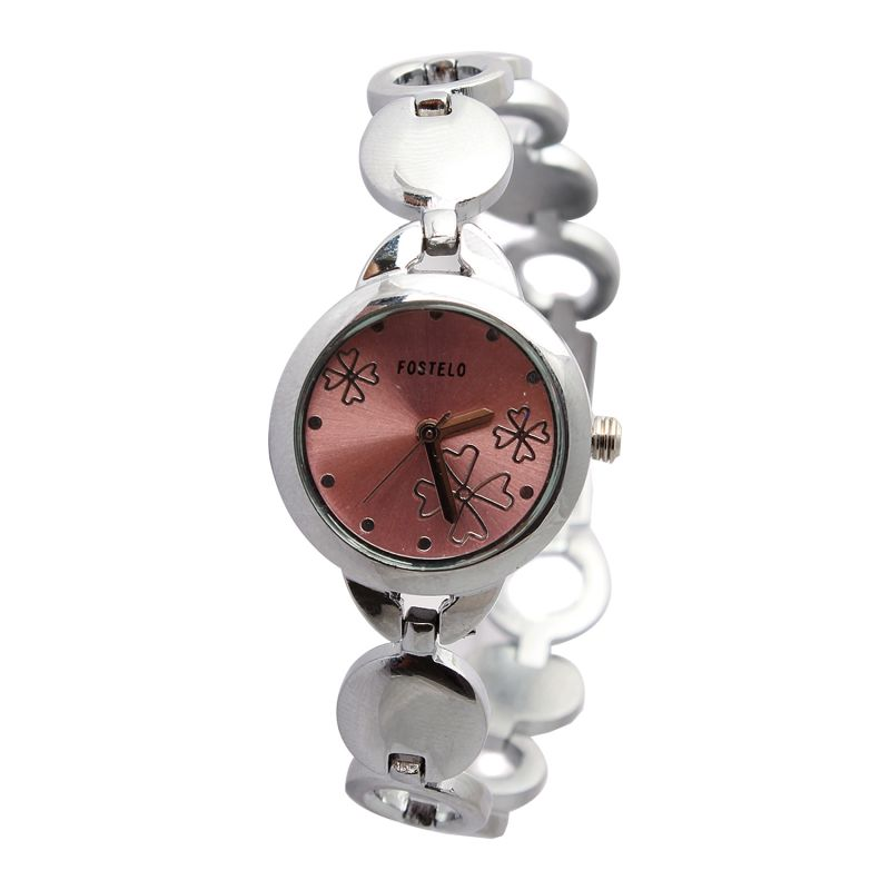 Buy Fostelo Pink Womens Wrist Watch online