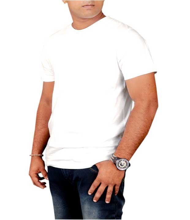 Buy Plain White Round Neck Tshirt online