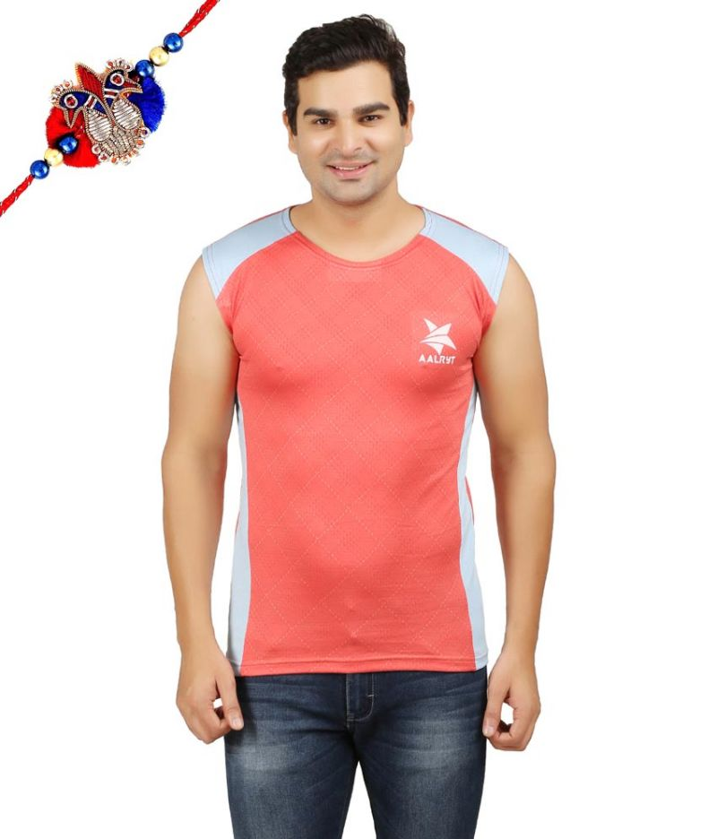 Buy Aalryt Sleeveless Premium T Shirt With Rakhi - Ls001or online