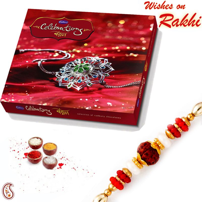 Buy Cadburys Celebration Pack With Beautiful Rakhi - Cho1705 online