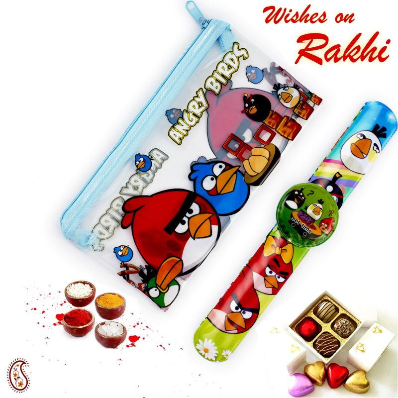 Buy Rakhi For Uae - Cartoon Pouch Box & Rakhi Kids Hamper - Uae_hpr17174 online