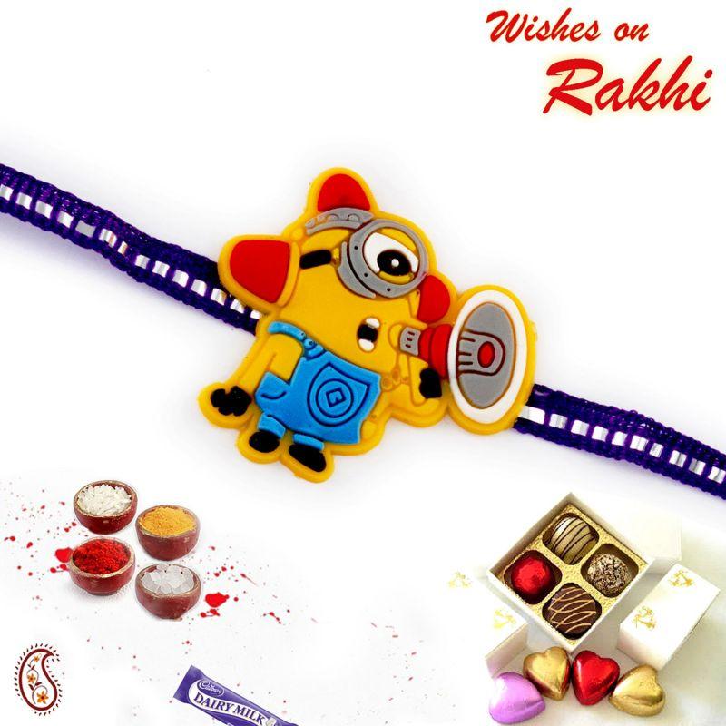 Buy Rakhi For Abroad_aapno Rajasthan Cartoon With Speaker Motif Kids Rakhi - Int_rk17869 online