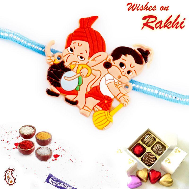Buy Rakhi For Abroad_aapno Rajasthan Cute Motif Kids Rakhi - Int_rk17892 online