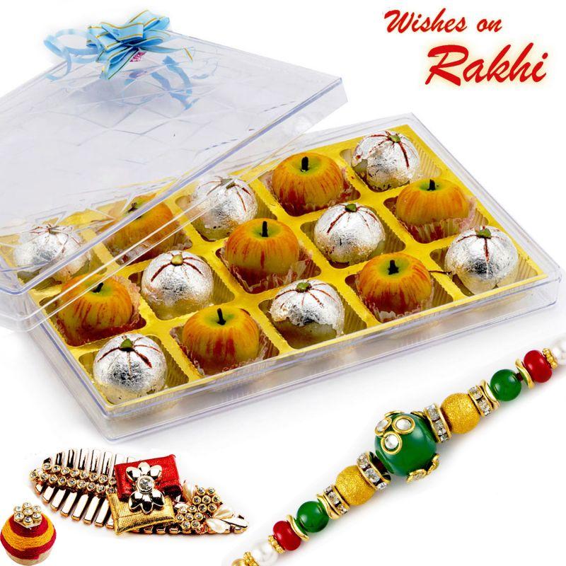 Buy Aapno Rajasthan Premium Kaju Apple & Kaju Laddoo Sweets With Free 1 Rakhi - Rm1770 online
