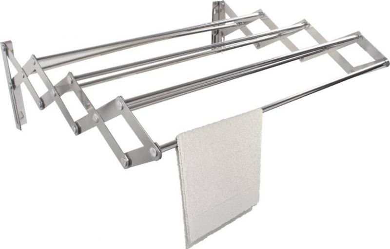 Buy Kawachi Stainless Steel Foldable 2.5 Feet Loundry Hanger Wall Mounted Cloth Dryer Stand online