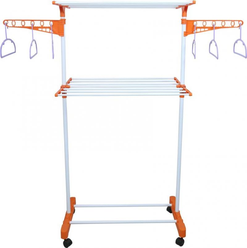Buy Kawachi 2 Tier Laundry Hanger Power Dryer Easy Mild Steel Cloth Drying Stand I71 online