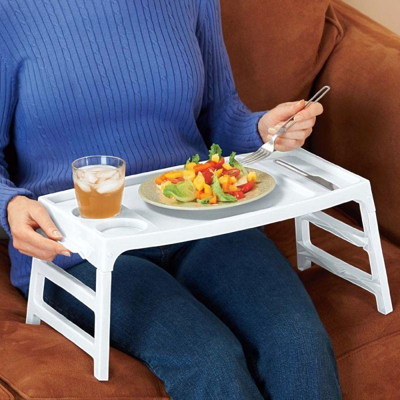 Buy Kawachi Convertible Plastic Foldable Lap Table Tray online