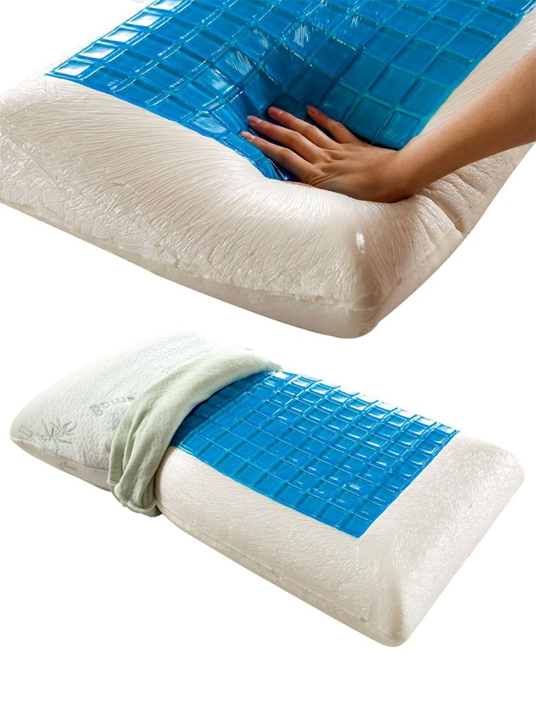 tempagel cool cooling gel pdx restonic pillow with max bath beads bed