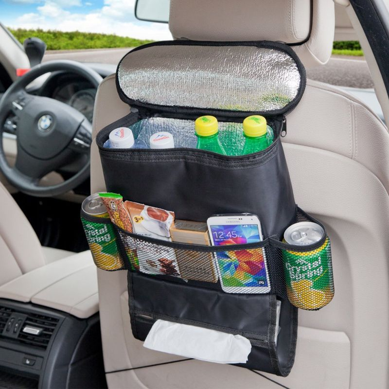 Buy Kawachi Multifunctional Car Seatback Thermal Cooler Bag Organizer Tissue Box Fabric Storage Hanging Travel Seat Back K374 Online