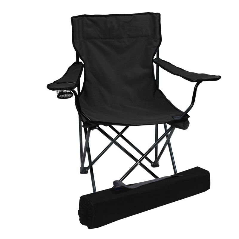 Buy Folding Camping Chair Portable Fishing Beach Outdoor Collapsible Chairs-black online