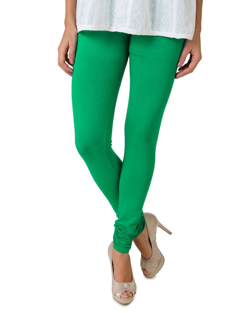 Buy Fasense Women's Forest Green Cotton Leggings online