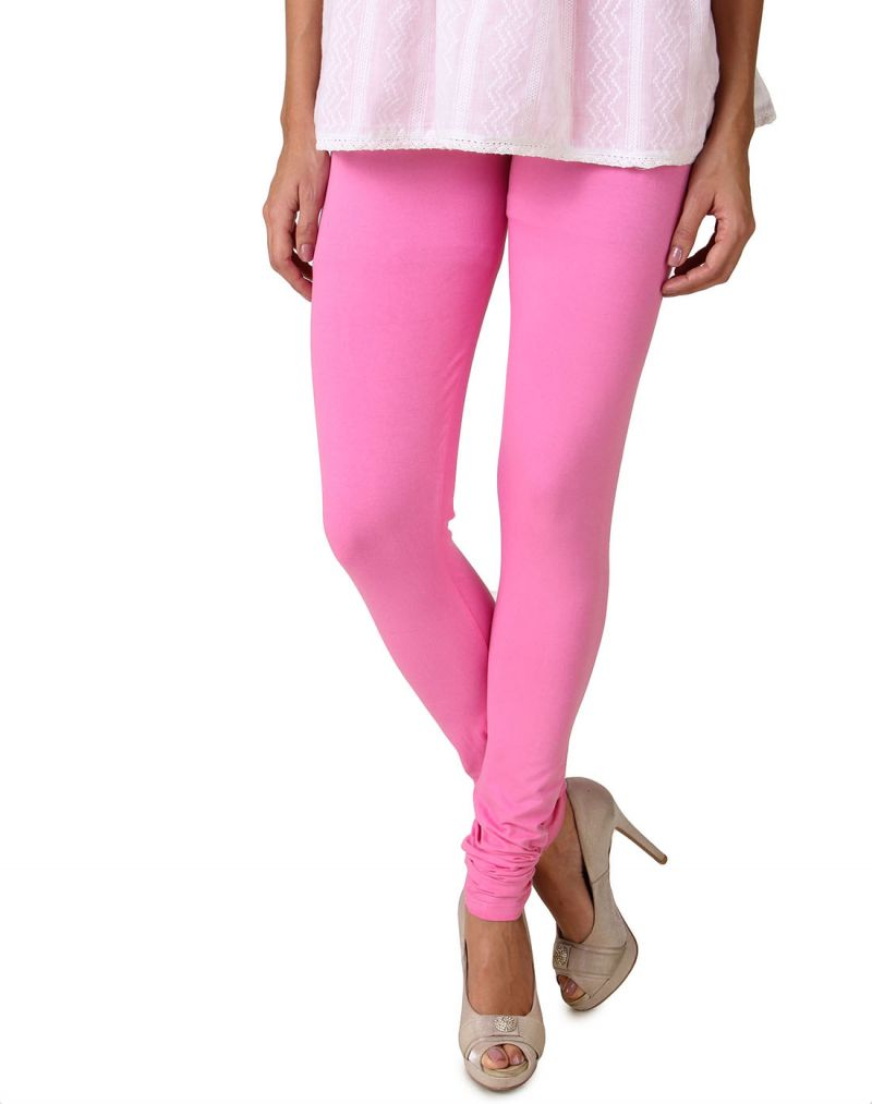 Buy Fasense Women's Pink Cotton Leggings, online