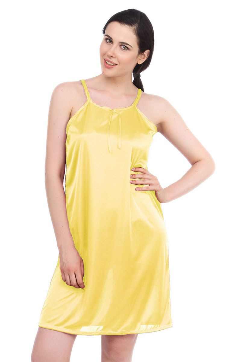 f76041fa Fasense Women Yellow Satin Sleepwear Short Nighty (code - Dp055 I)
