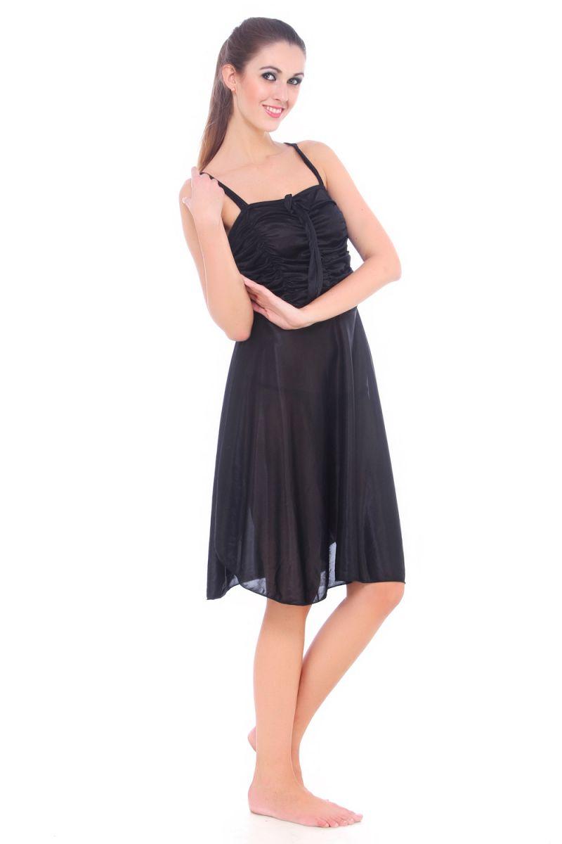 2bbc1d7308 ... Fasense Women Satin Slip Nightwear Sleepwear Short Nighty Dp057 B. 56% buy  online e20e6 ...