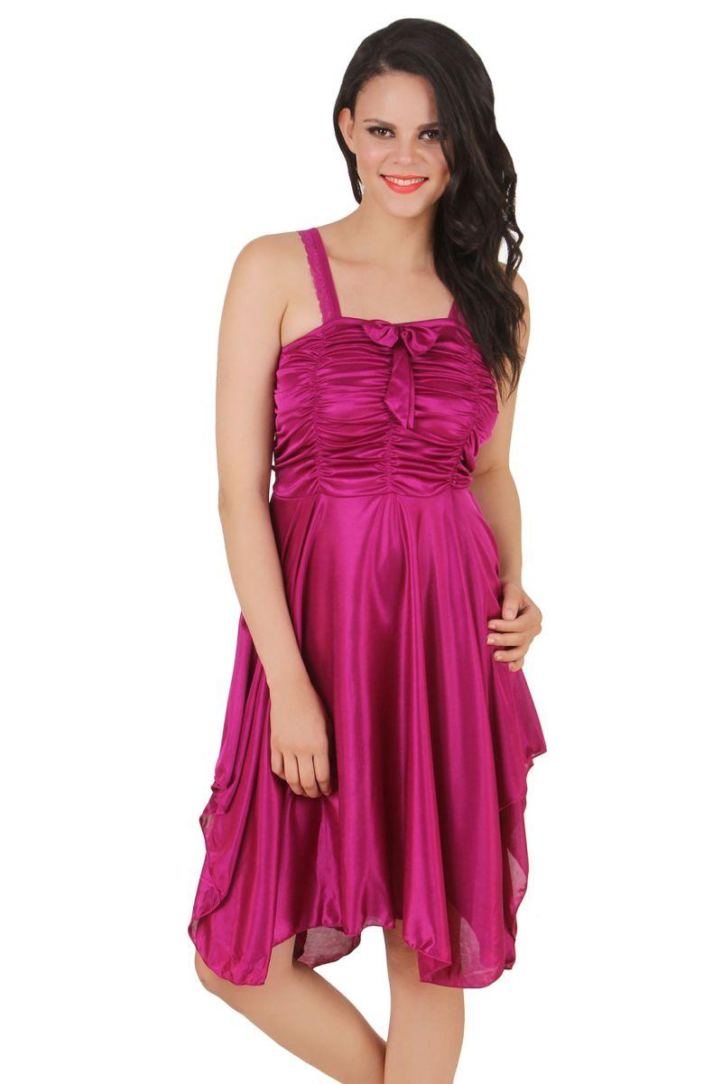 c8e5086675 ... check out 8ffaf fd9c4 Buy Fasense Exclusive Women Satin Nightwear  Sleepwear Short Nighty Dp057 D online ...