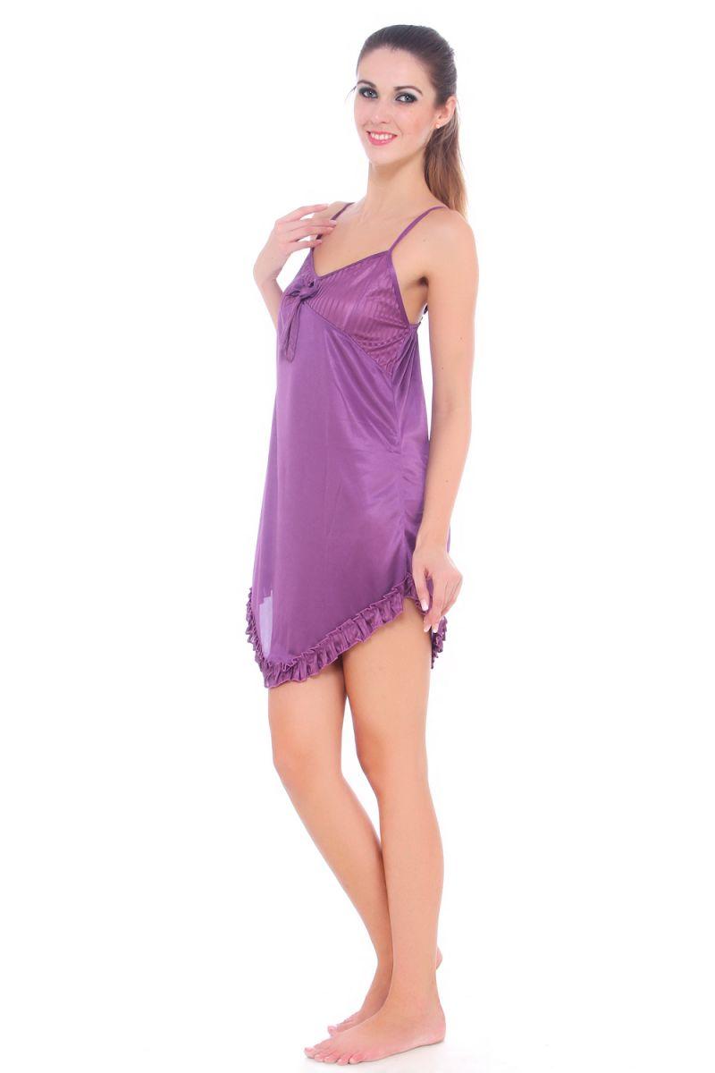 800dd9088f Buy Fasense Women Satin Slip Nightwear Sleepwear Short Nighty Online ...