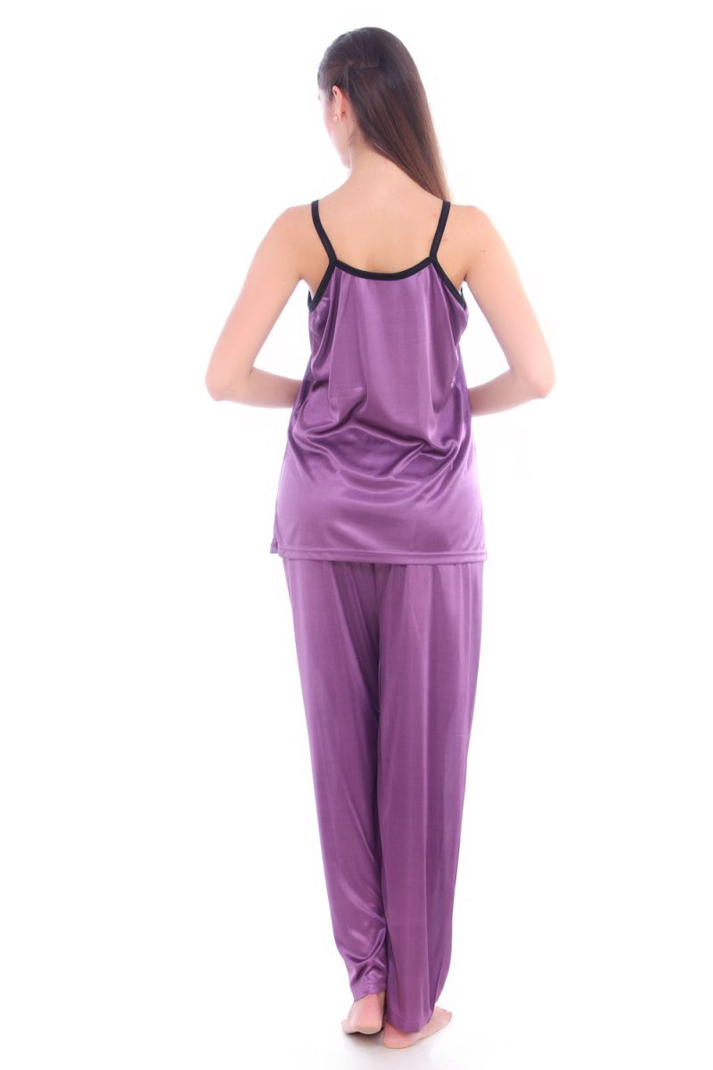 9a2bc3aed5 Buy Fasense Women Stylish Satin Nightwear Sleepwear Pj Set Night Suit Dp064  A Online | Best Prices in India: Rediff Shopping