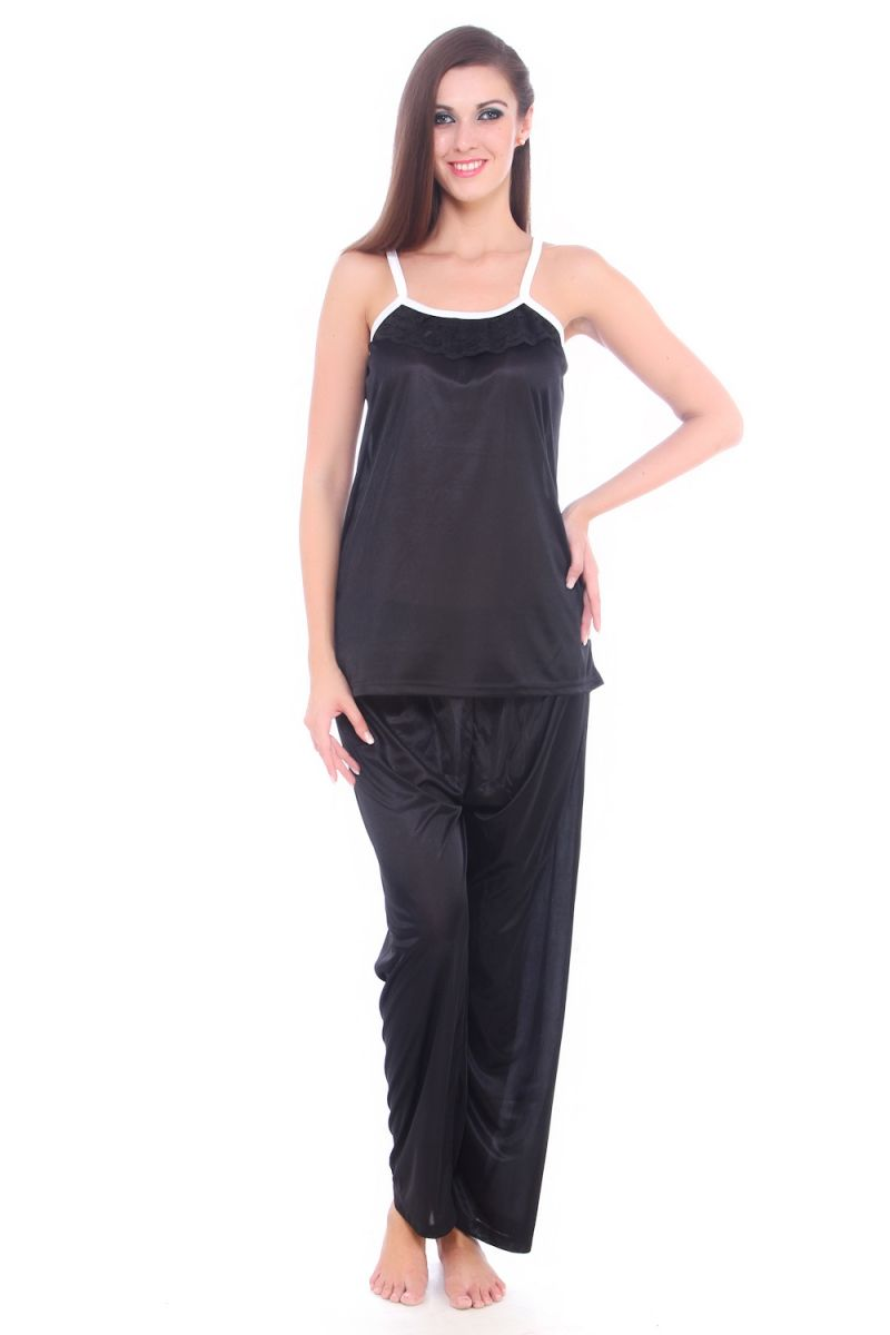 Buy Fasense Women Satin Nightwear Sleepwear Pyjama Set Night Suit Dp064 B online