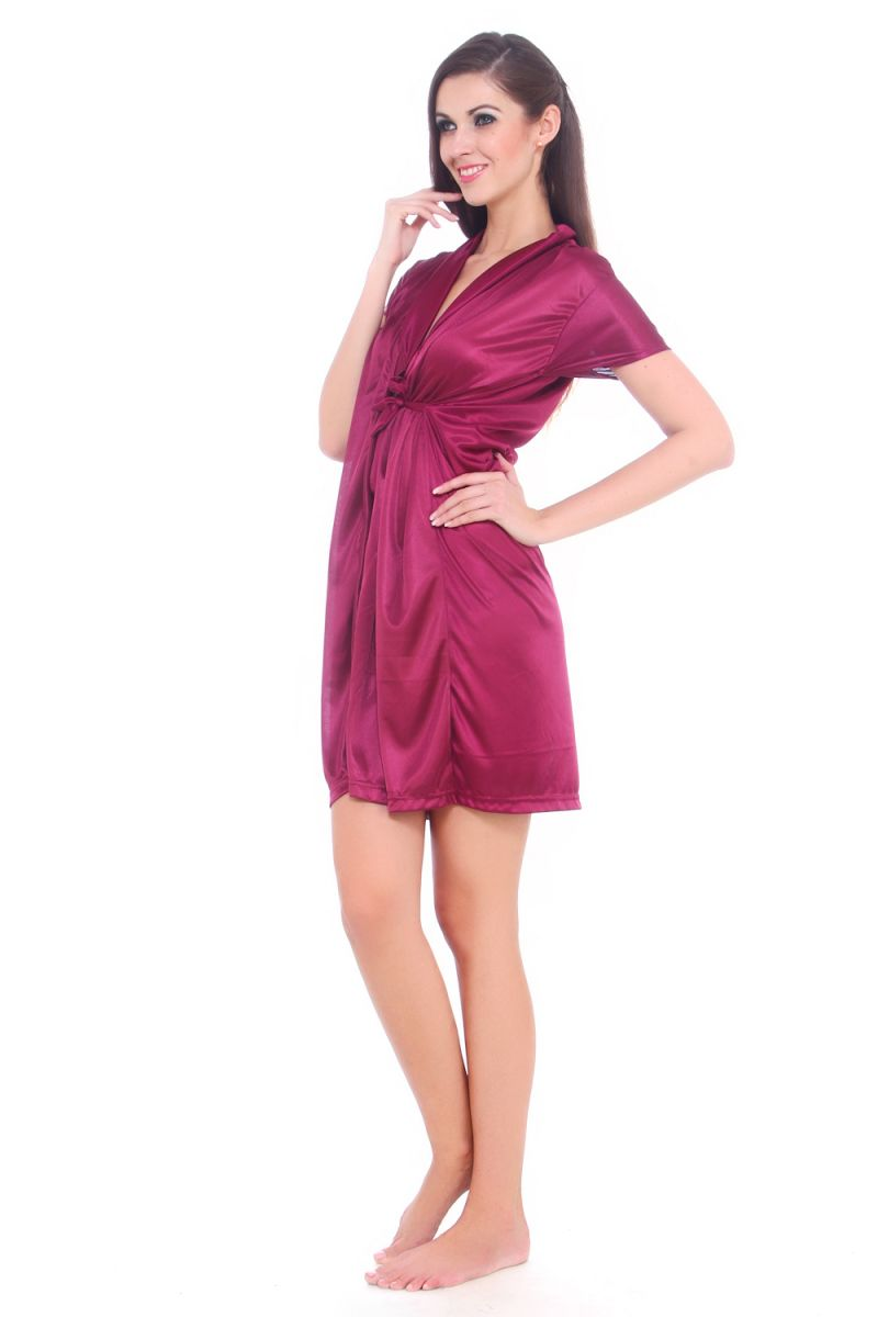b2e88a35b Buy Fasense Women Satin Nihgtwear Sleepwear Night Gown   Robe Online ...