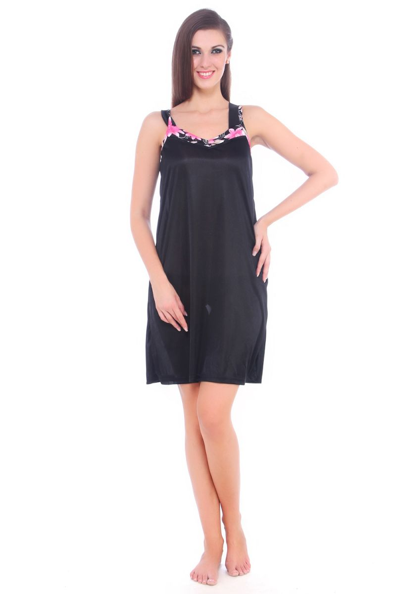 Buy Fasense Women Satin Nightwear Sleepwear Short Slip Nighty online