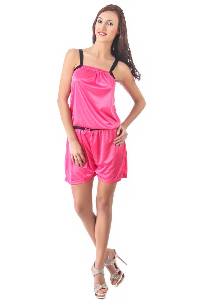 Buy Fasense Women Stylish Satin Nightwear Sleepwear Jump Suit Dp085 C online