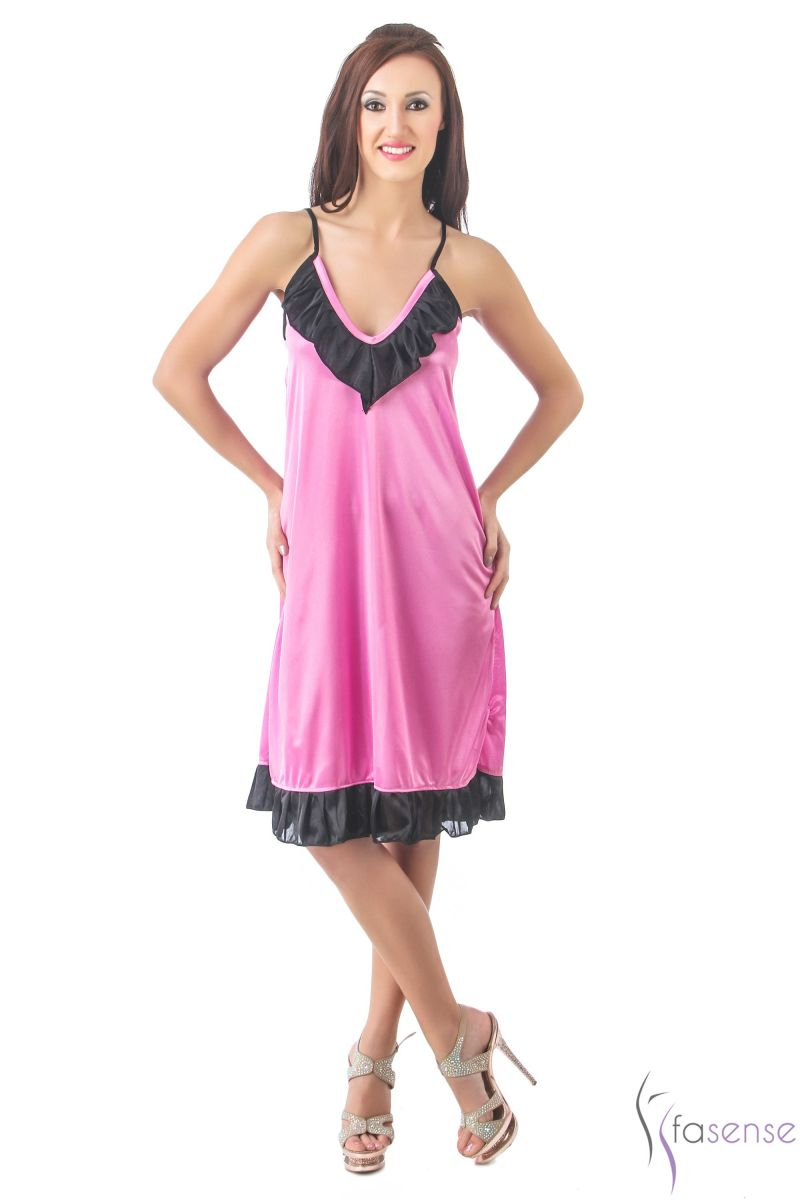 Buy Fasense Women Stylish Satin Nightwear Sleepwear Short Nighty Dp098 B online
