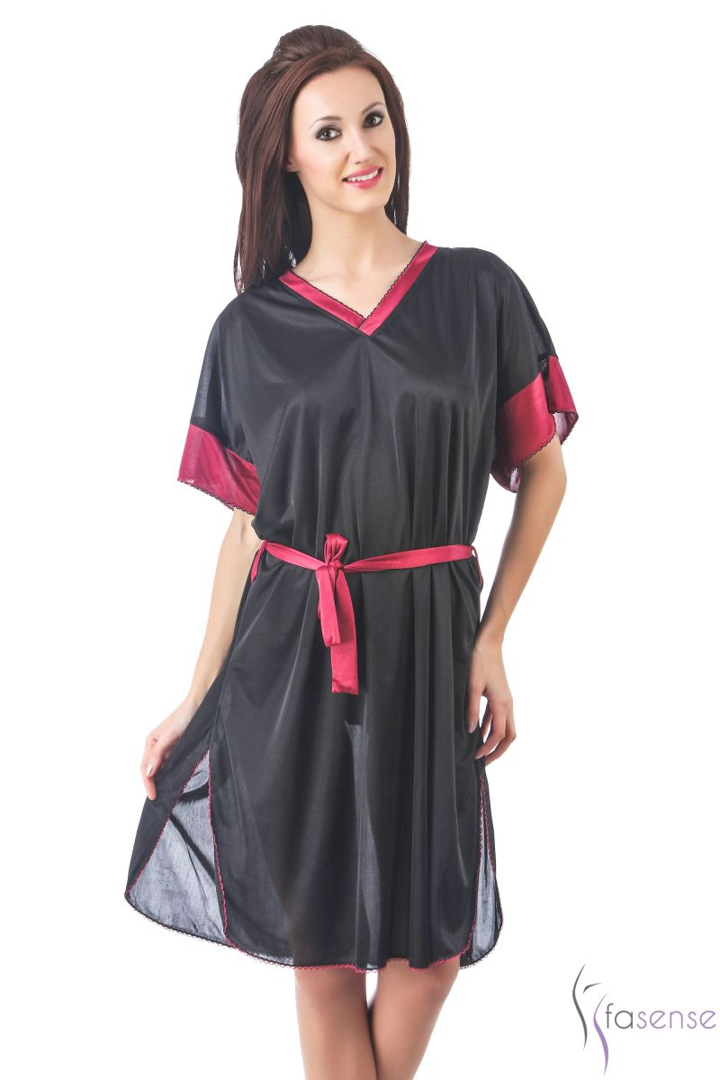 Buy Fasense Women Stylish Satin Nightwear Sleepwear Short Kaftan online