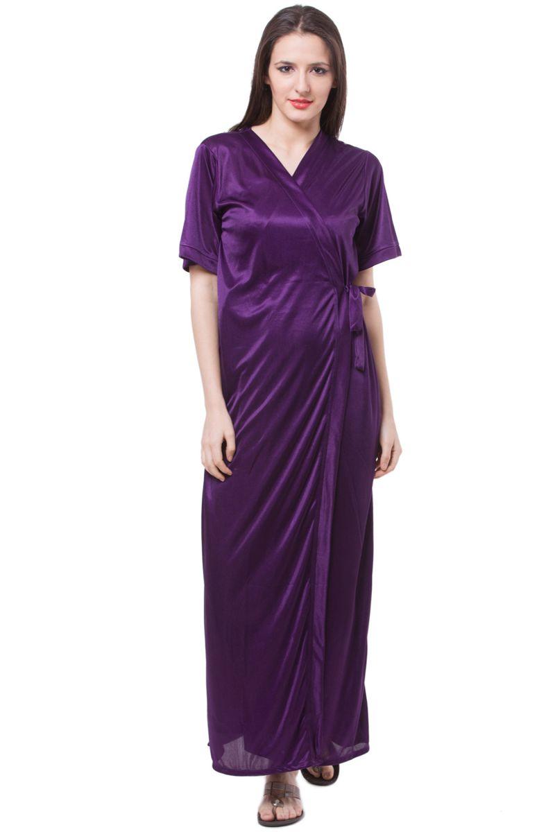 7acd65d0fa Fasense Women Satin Nightwear Sleepwear 2 Pc Set Nighty   Wrap Gown. 69%