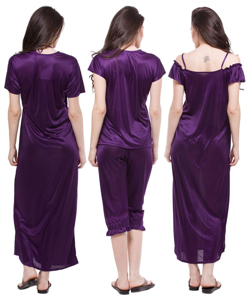 f7dd3ec0fa9 Buy Fasense Exclusive Women Satin Nightwear Sleepwear 6 PCs Set Of Nighty  Dp115 E Online