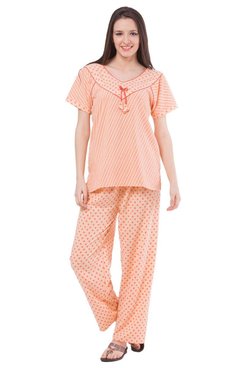 Buy Fasense Exclusive Women Cotton Nightwear Sleepwear Top&pyjama Set,dp129 A online