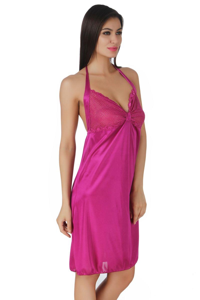 586cb7a6ff ... slip nighty online official photos f6d4a a6e25  Fasense Exclusive Women  Satin Nightwear Sleepwear Short Nighty Dp134 C. 50% meet bd659 1d50c ...