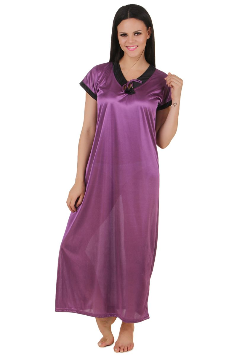b37d6fc320 Buy Fasense Exclusive Women Satin Nightwear Sleepwear Long Nighty Online |  Best Prices in India: Rediff Shopping
