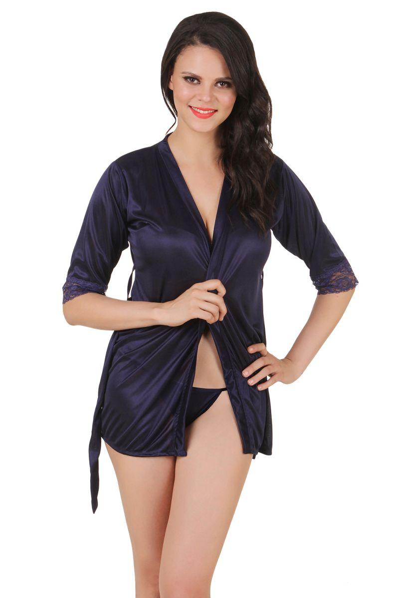 Buy Fasense Women Satin Nightwear Babydoll 2 PC Set Of Wrap Dp143 ...